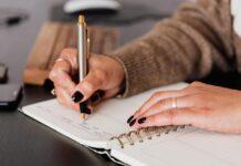 pisanie w pamiętniku