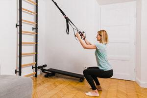 Ćwiczenia z drabinką w domu